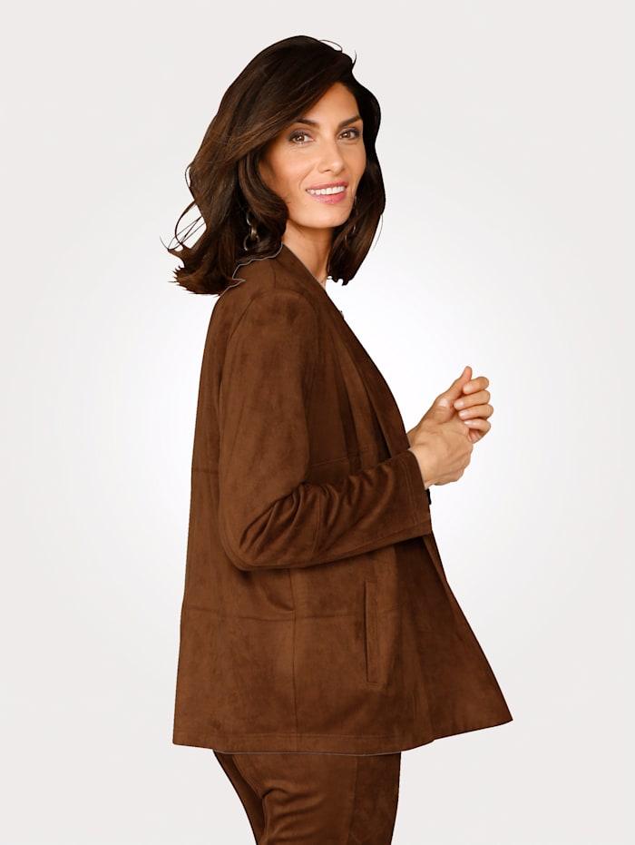 Blusenjacke in handschuhweichem Lederimitat