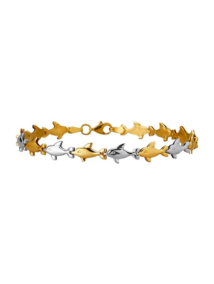 Diemer Gold Armband Dolfijn van 14 kt. goud, Geelgoudkleur