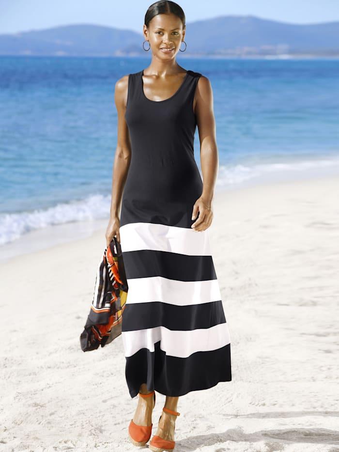 Alba Moda Beachkleid im Ringeldessin, Schwarz-Weiß