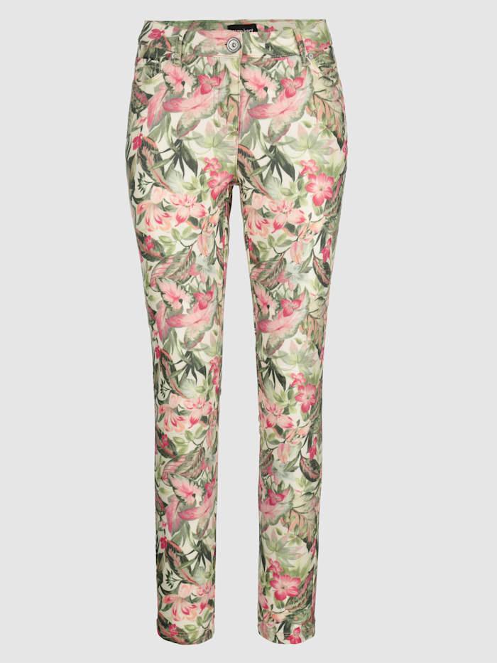 Pantalon de coupe Laura Extra Slim à ravissant motif