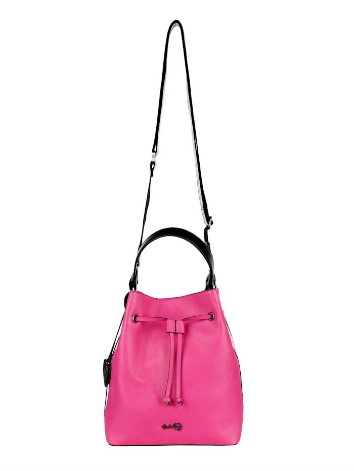 Taschenherz Beuteltasche mit einem abnehmbaren Taschenherz-Anhänger, pink