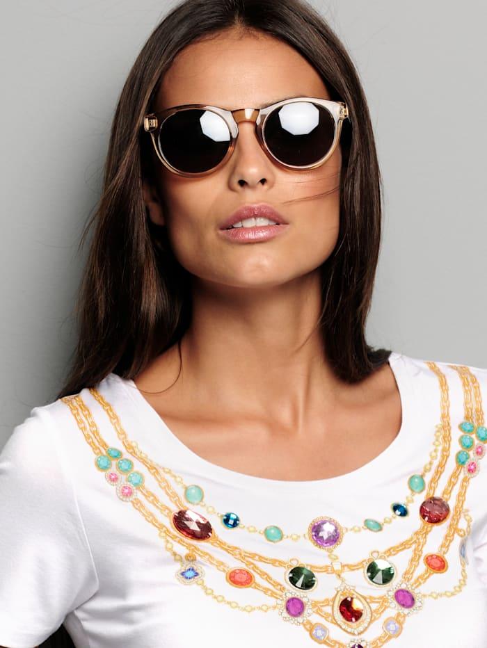 Sonnenbrille mit Bügeln im Leomuster
