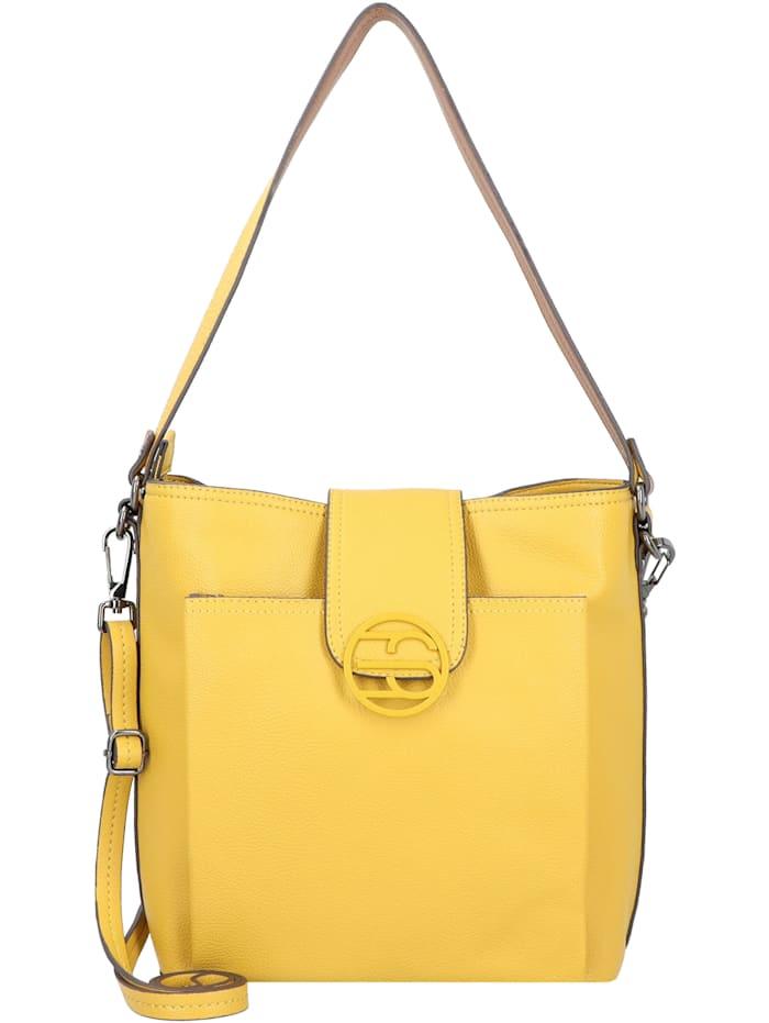 Esprit Monogramm Schultertasche 27 cm, brass yellow
