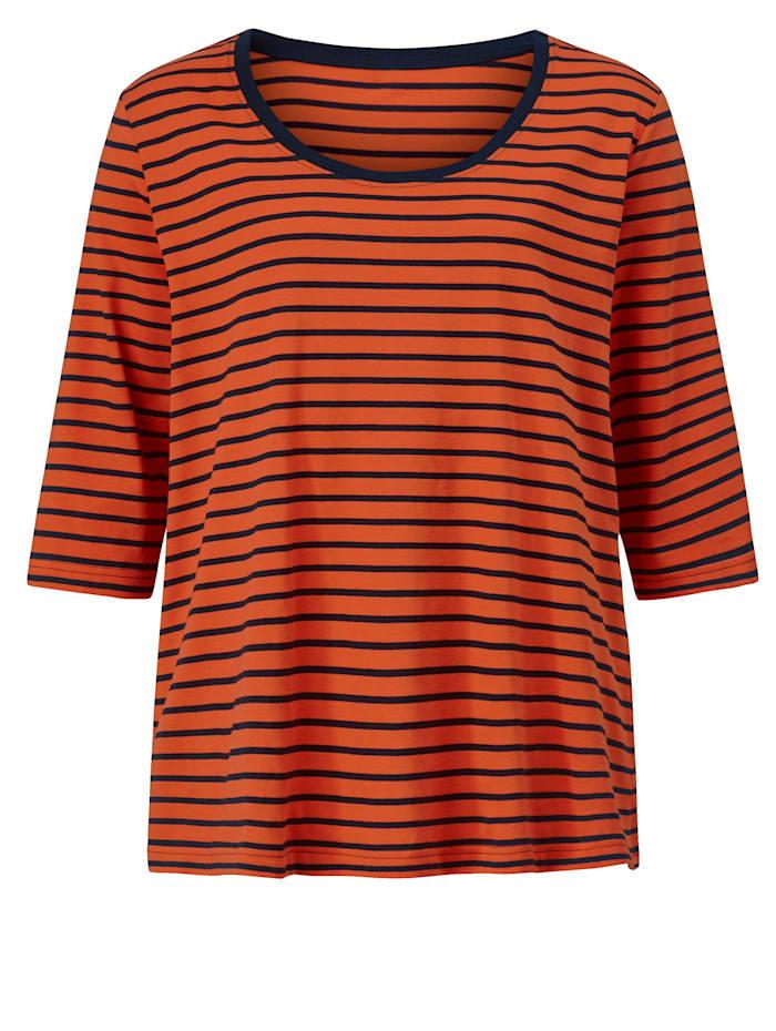 Shirt mit einfarbig abgesetztem Ausschnitt