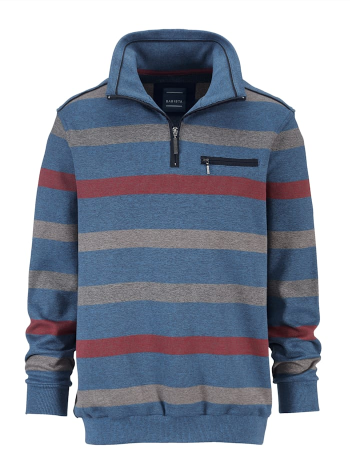 BABISTA Sweatshirt in gemêleerde look, Blauw/Grijs