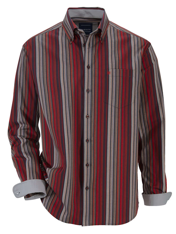 BABISTA Hemd mit harmonischem Streifenmuster, Bordeaux/Grau