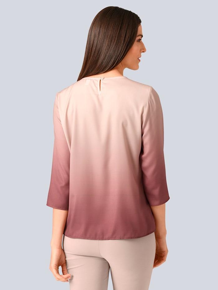 Bluse mit Farbverlauf-Dessin