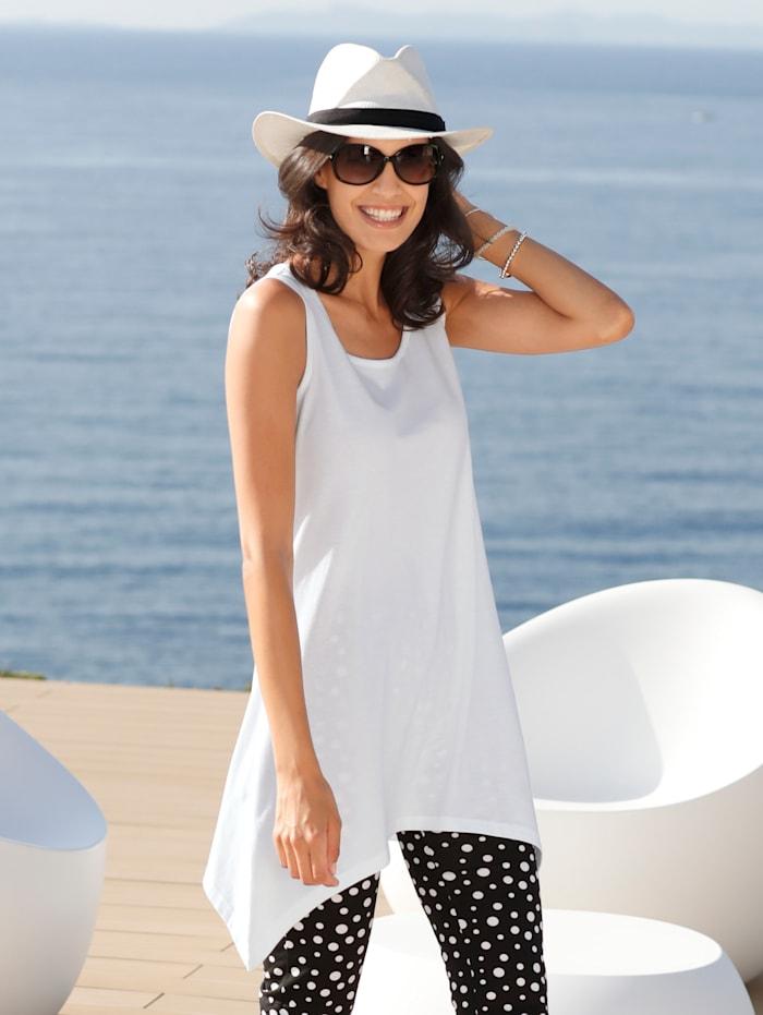 Maritim Strandshirt im angesagten Zipfel-Look, Weiß