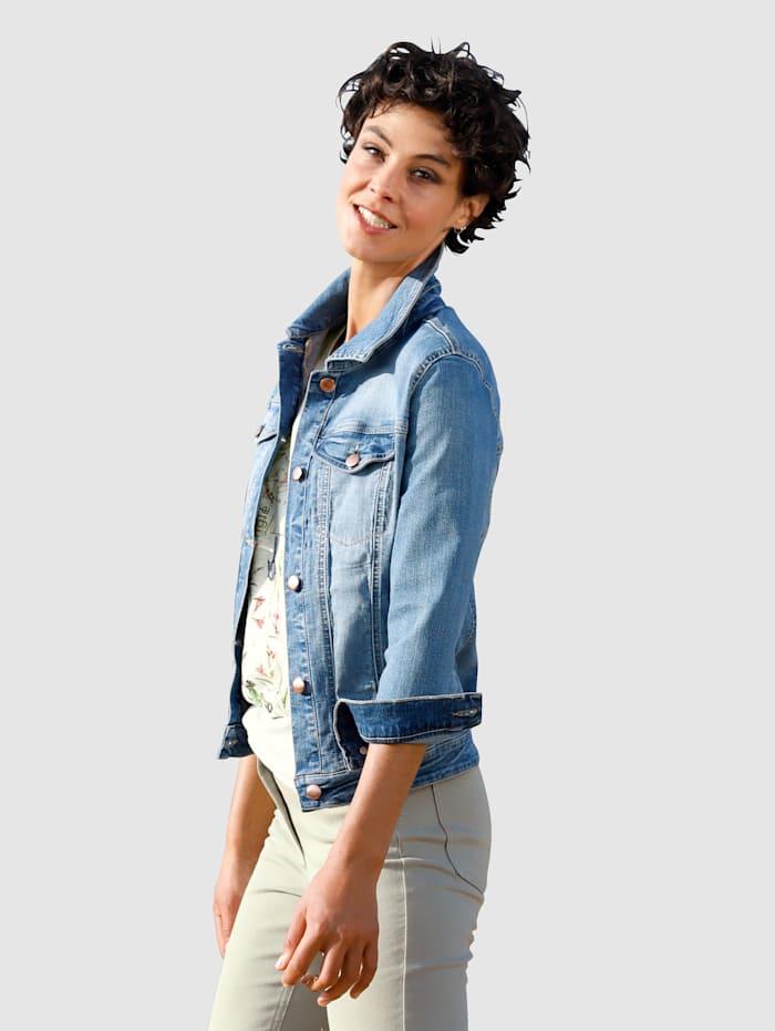 Dress In Spijkerjasje met modieus washed effect, Blauw