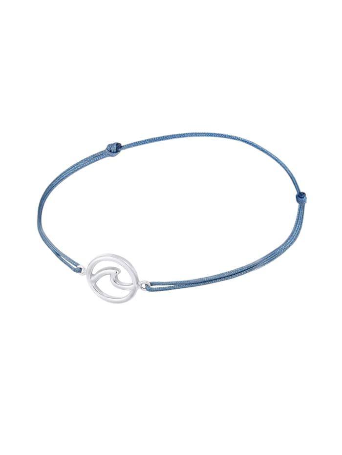 Armband Welle Strand Maritim Nylon Band Trend 925Er Silber