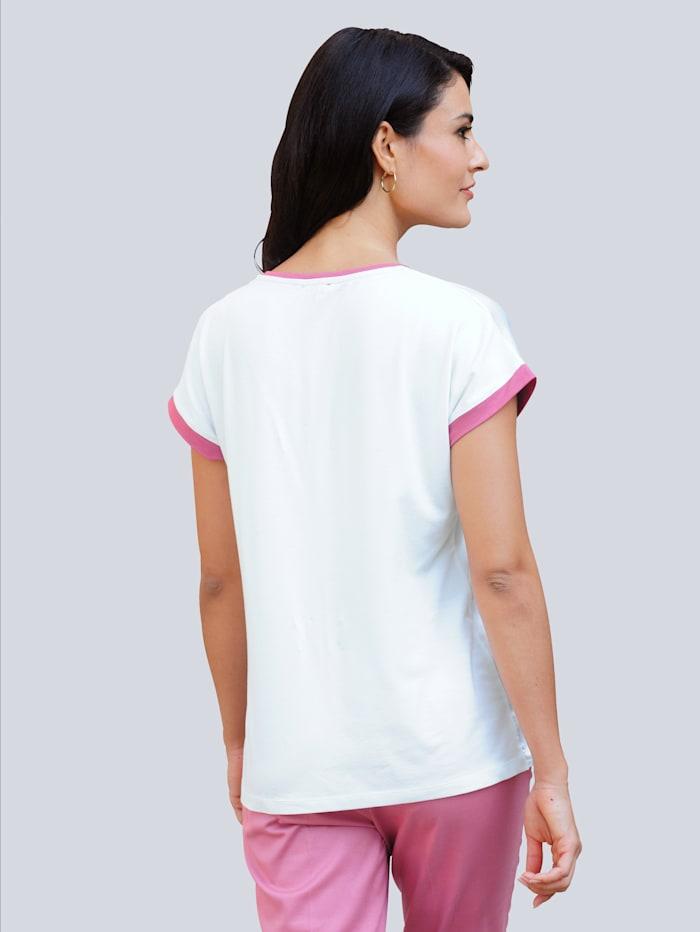 Shirt mit Druck und Pailletten