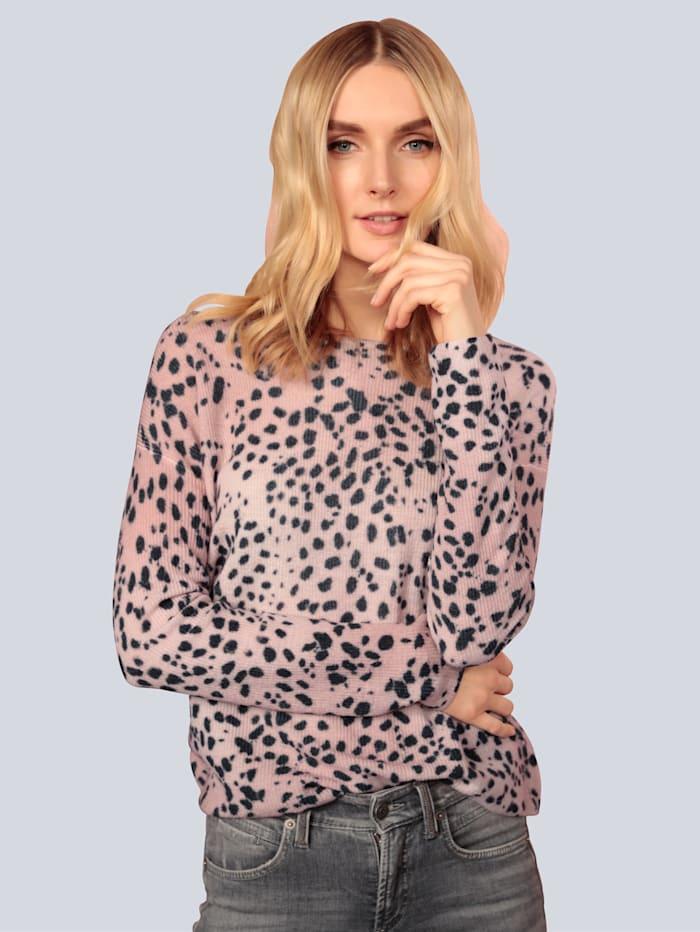 Princess GOES HOLLYWOOD Pullover mit modischem Leodruck, Rosé