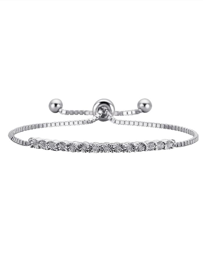 KLiNGEL Armband mit Diamant, Transparent