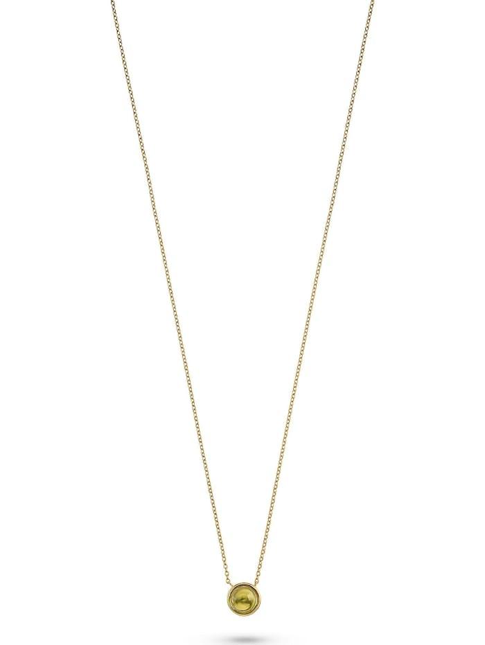 CHRIST GOLD CHRIST Gold Damen-Kette 375er Gelbgold 1 Peridot, grün