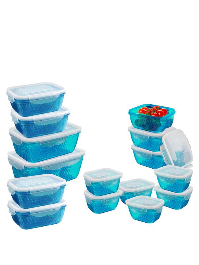 Set van 7 vershouddozen, blauw