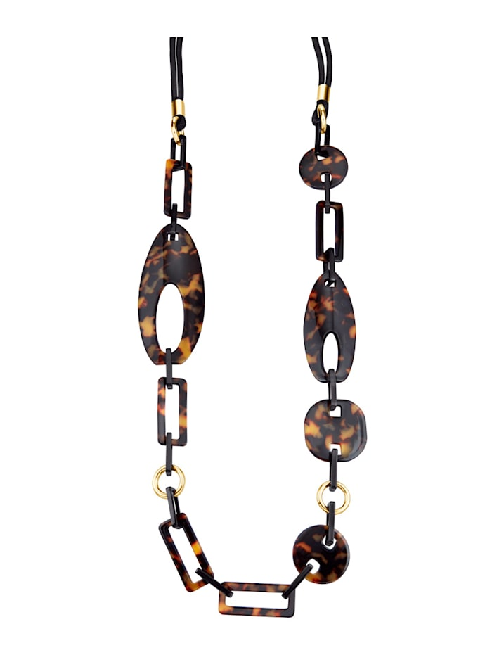 Necklace in classic brown hues, Brown
