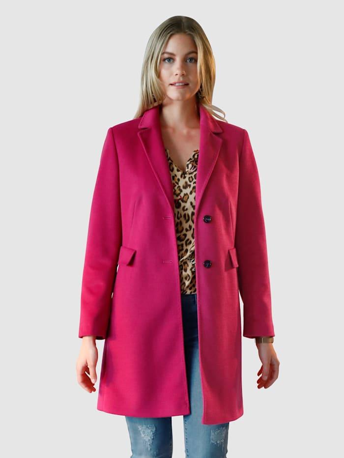 RoFa Kurzmantel mit Reverskragen, Pink