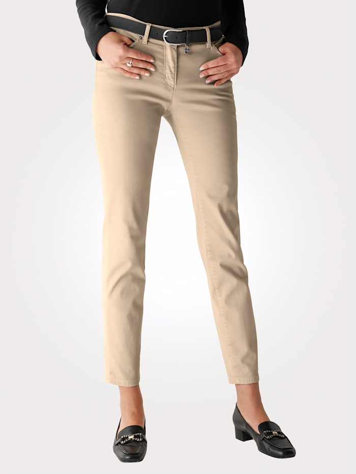 Trousers with a velvet finish