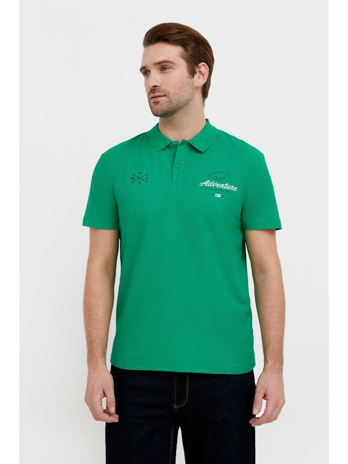Finn Flare Poloshirt mit bequemem Kragen, green