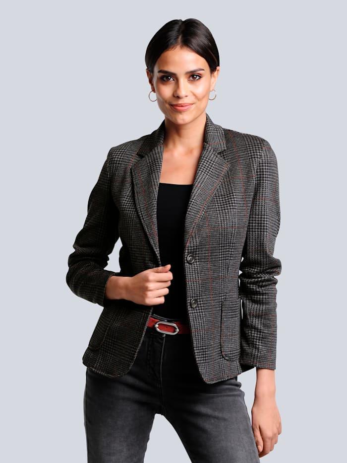 Alba Moda Blazer van comfortabele jersey, Antraciet/Koperkleur
