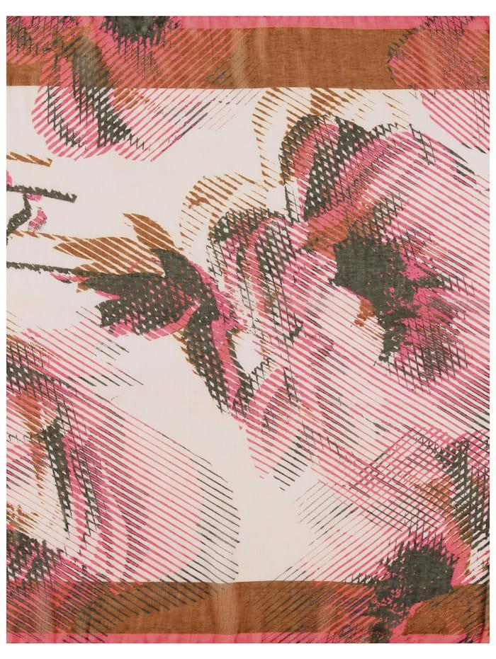 Schal mit Rosenmuster