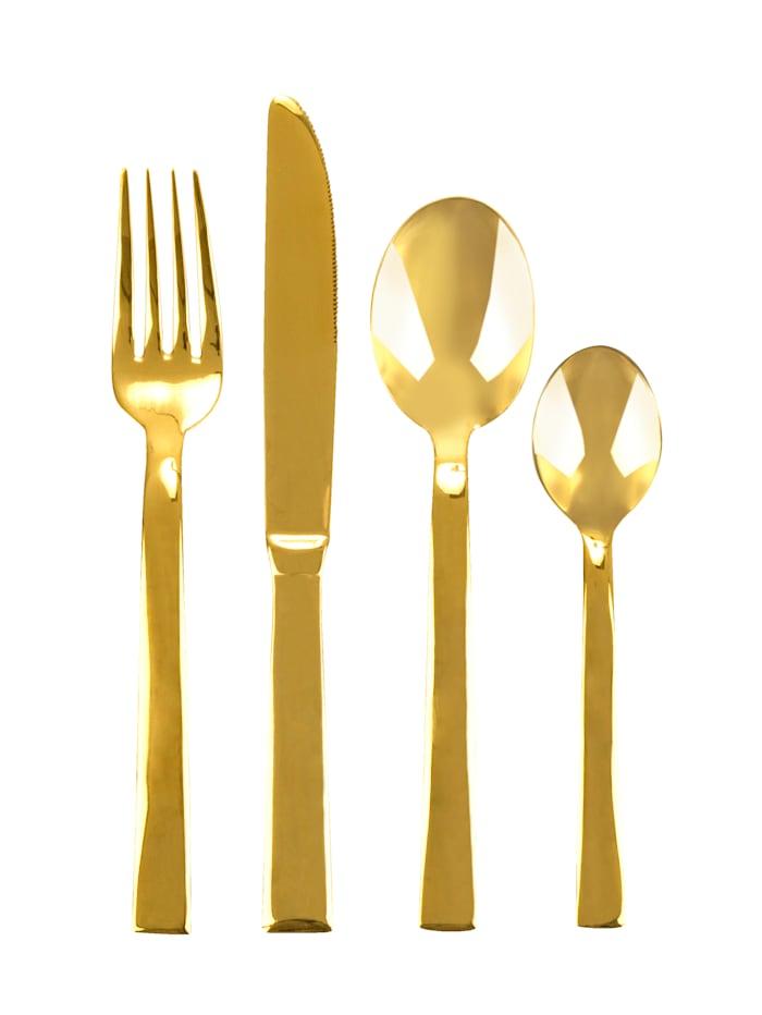 IMPRESSIONEN living Besteck-Set, 16-tlg., goldfarben