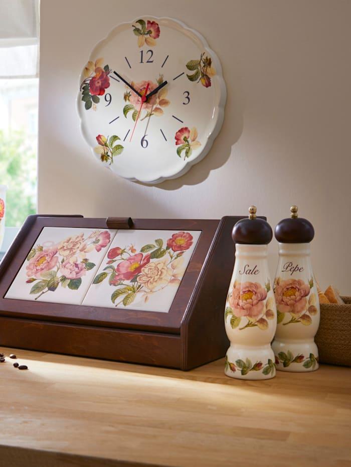Nuova Ceramica Artisan Nostalgische Pfeffermühle 'Orto d´Autunno', mehrfarbig