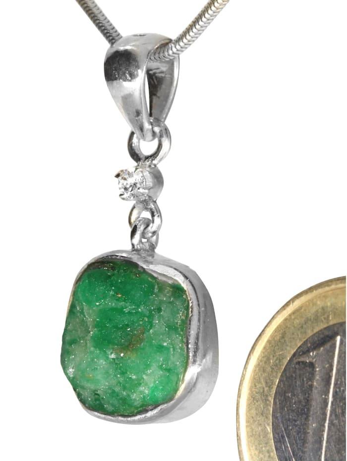 Diamant Anhänger 925 Silber