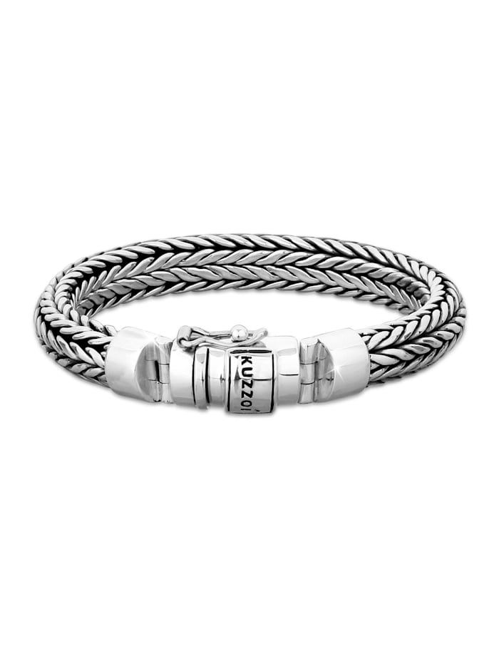 Kuzzoi Armband Herren Kastenverschluss Cool Basic 925 Silber, Silber