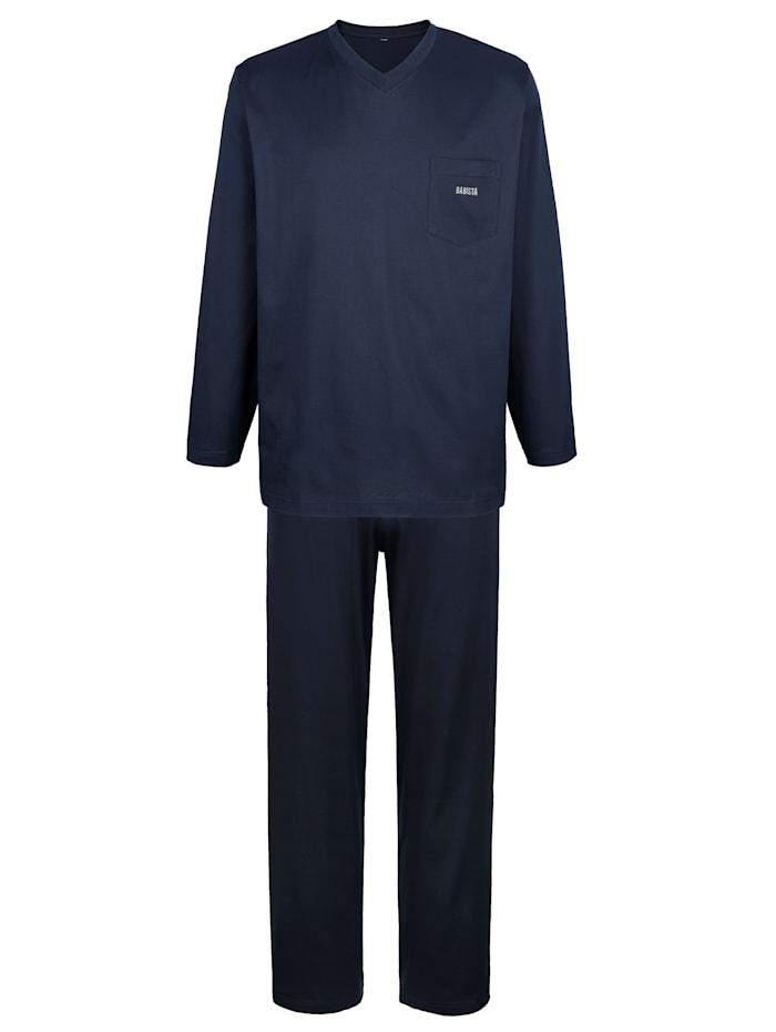 BABISTA Pyjama en coton mercerisé, Marine