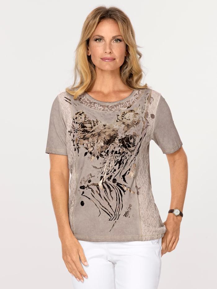 Shirt mit effektvollem Foliendruck