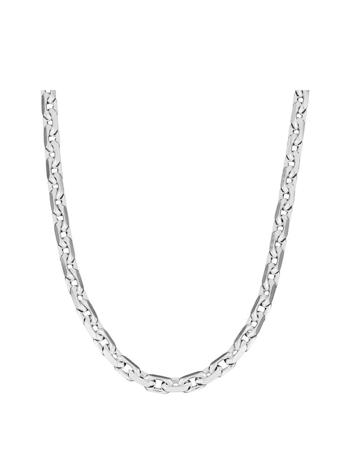 Grazielli Ankerketting van echt zilver, Zilverkleur