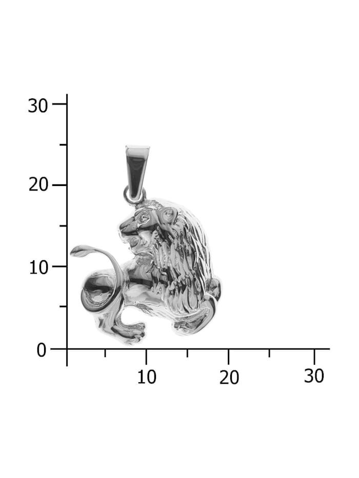 Anhänger - Tierkreiszeichen Löwe - Silber 925/000 - ,