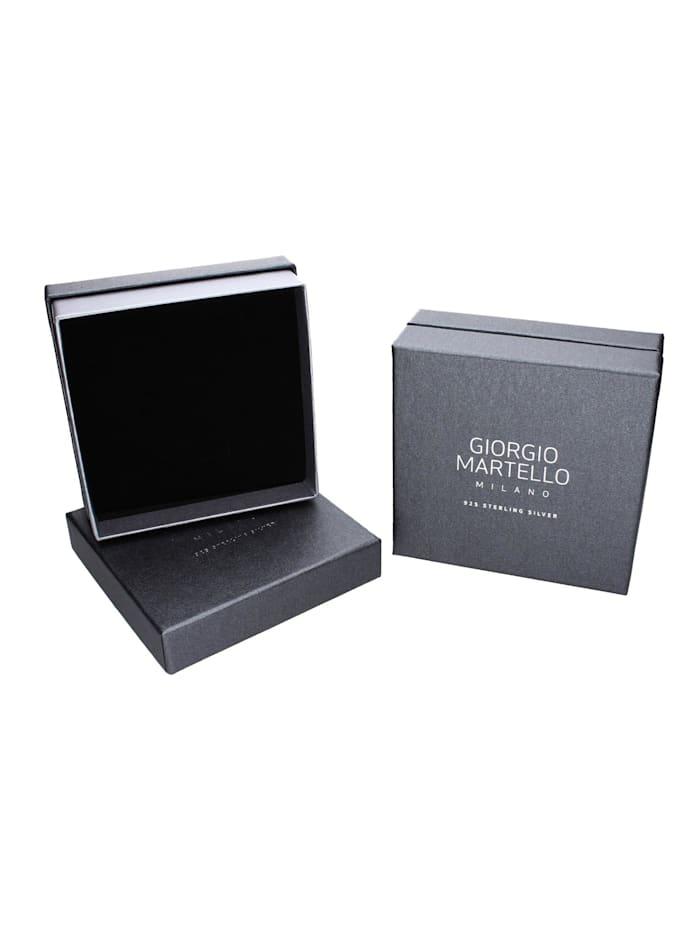 Collier Mittelteil Kleeblatt, Zirkonia und Kristallsteine, Silber 925
