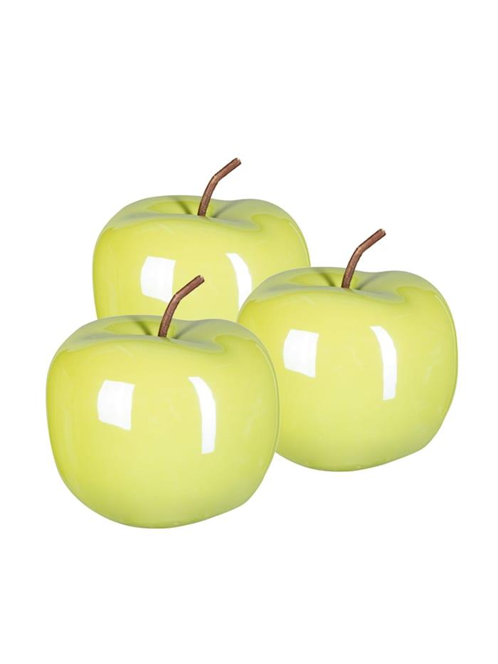 Creativ Deco Dekofigurset Apfel, 3tlg., Grün
