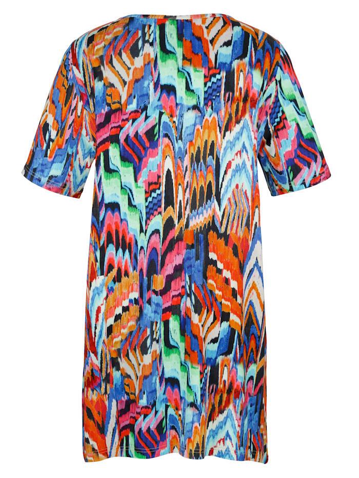 T-shirt à pointes À imprimé haut en couleurs