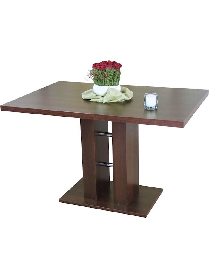 Möbel-Direkt-Online Säulentisch, Breite 120 cm Alice, Nussbaum-Nachbildung