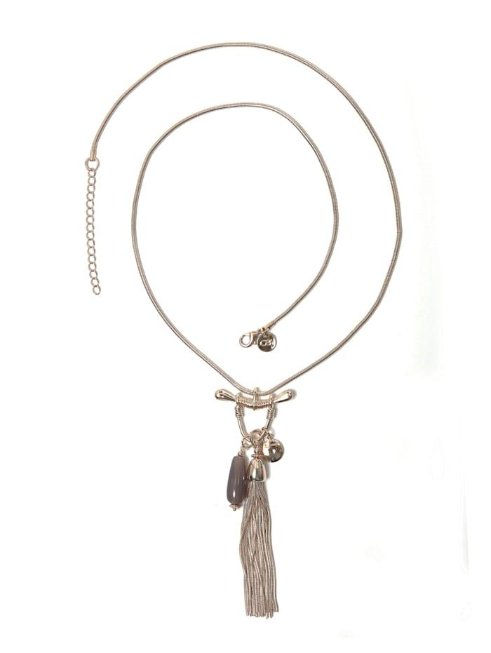Collezione Alessandro Lange Kette Betty mit Quaste aus Schlangenkette, gold
