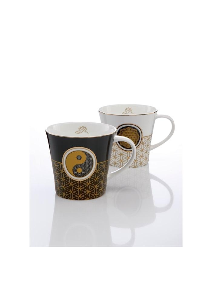Goebel Coffee-/Tea Mug Blume des Lebens weiß