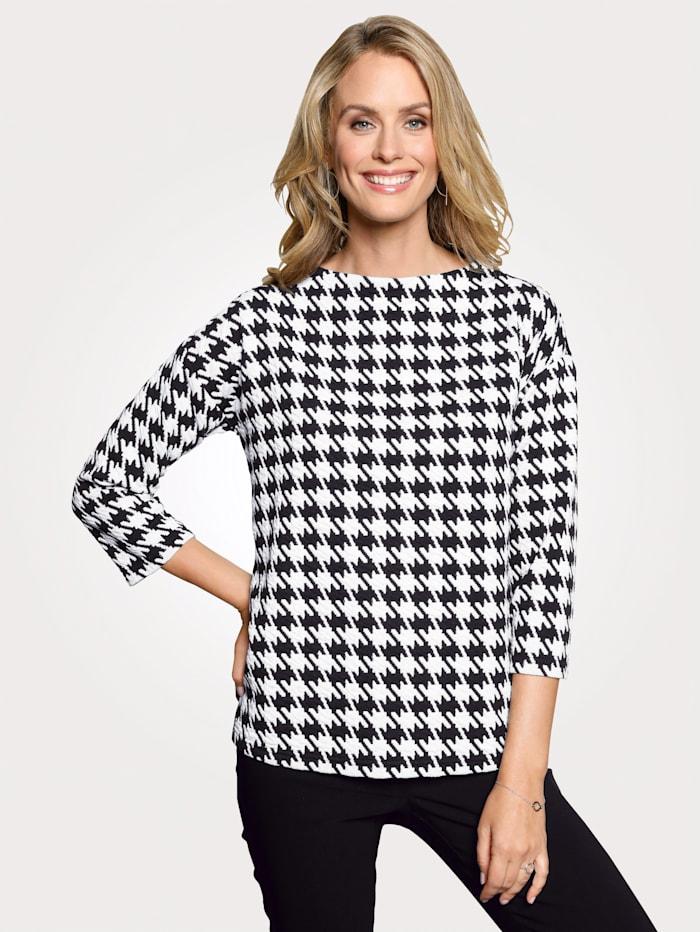 Sweatshirt mit Pepita-Muster