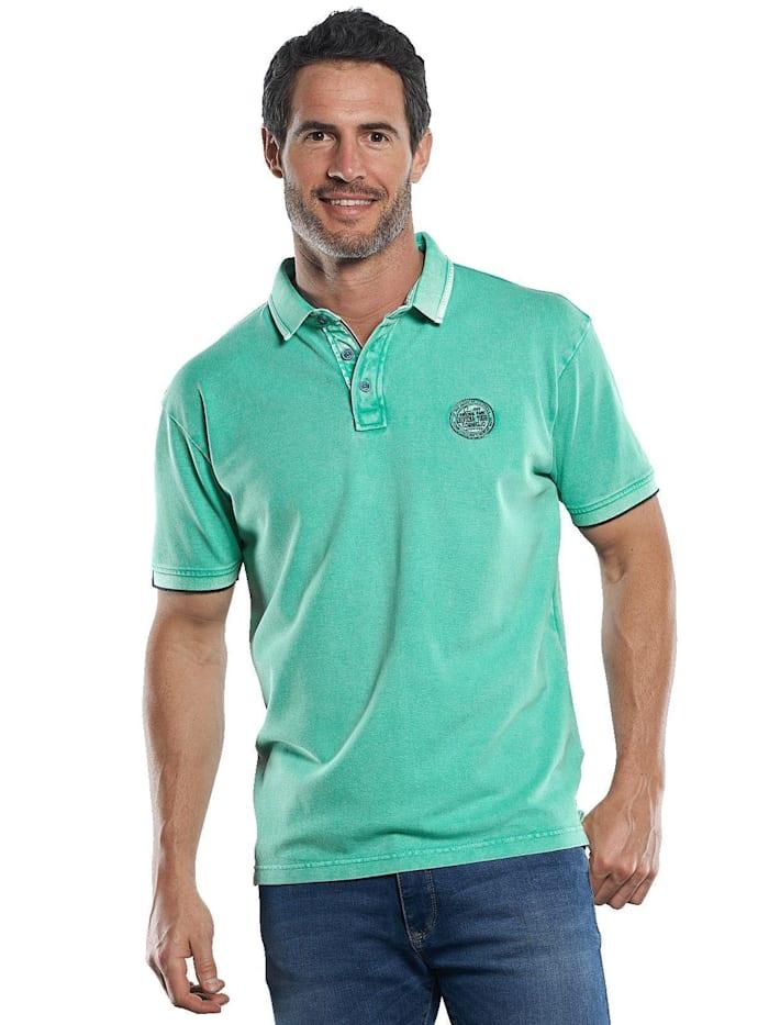Engbers Lässiges Piqué Poloshirt mit Kontrastdetails am Kragen, Minzgrün