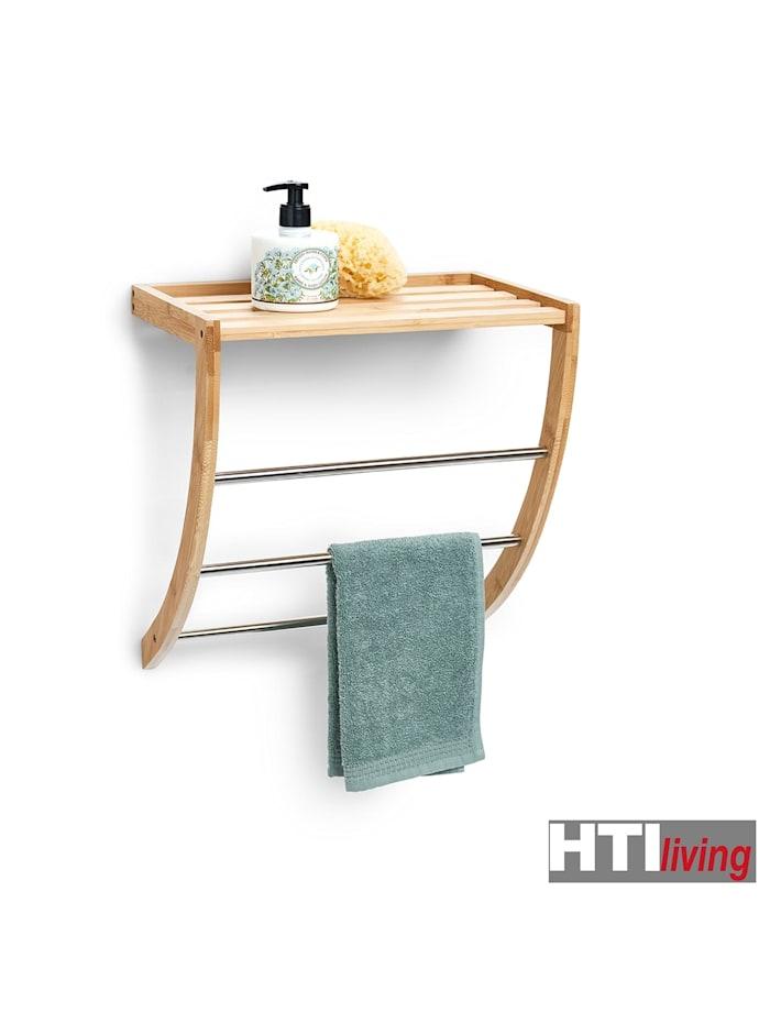 Handtuchregal Bambus/Metall