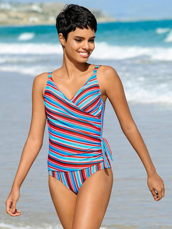 Rösch Badeanzug mit seitlicher Zierschleife, Blau