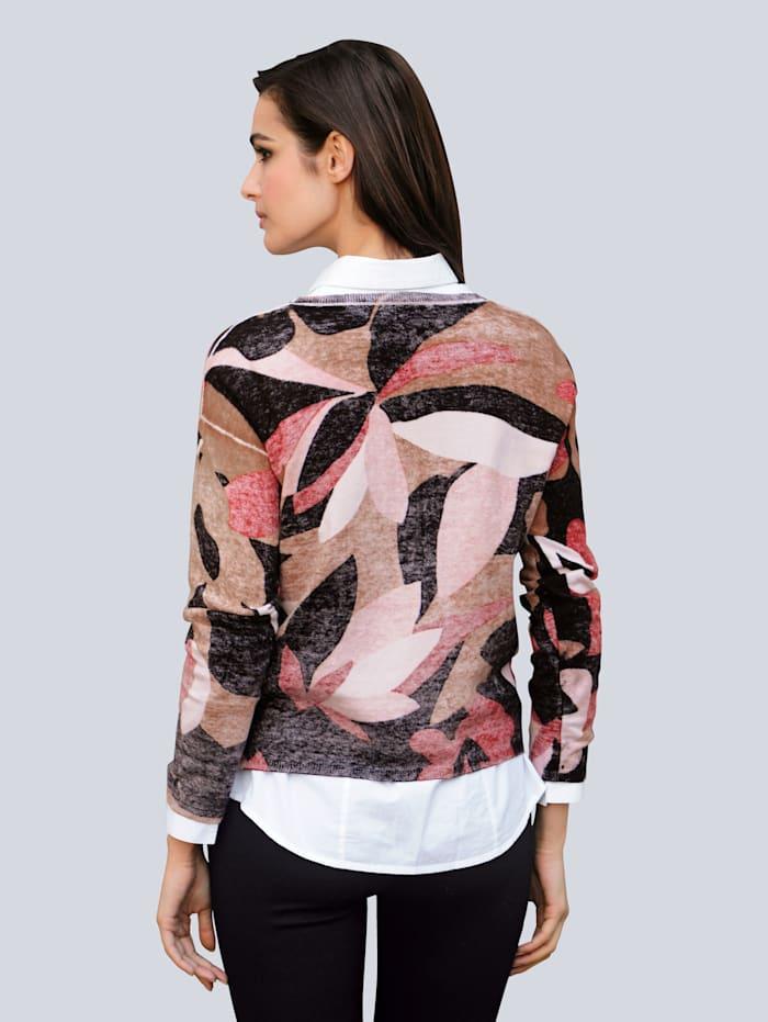 Pullover mit exklusivem Dessin von Alba Moda