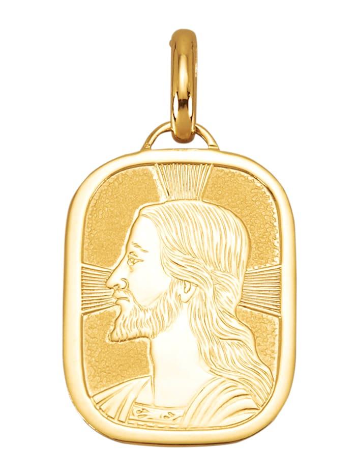 Amara Or Pendentif Jésus en or jaune 750, Coloris or jaune