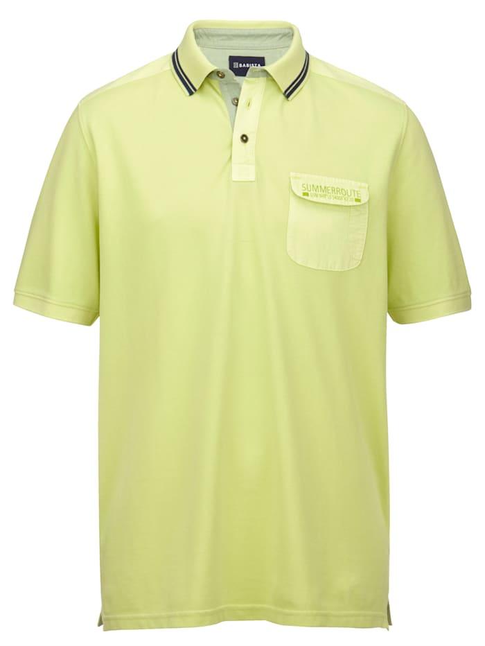 BABISTA Poloshirt garment dye, Limettengrün