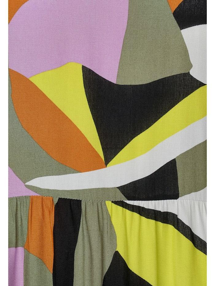 Midi-Kleid mit Muster