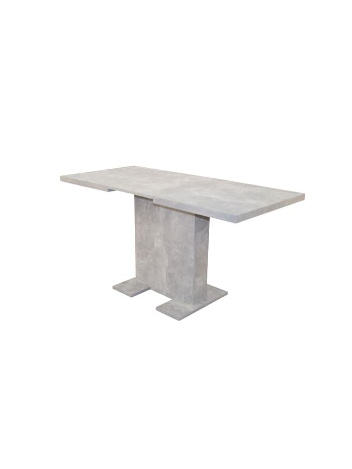 Möbel-Direkt-Online Säulentisch 110 - 150 cm Sandra, Betonoptik grau