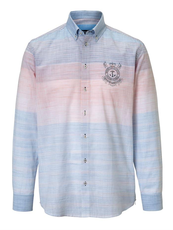 BABISTA Overhemd met fijn streeppatroon, Blauw/Rood