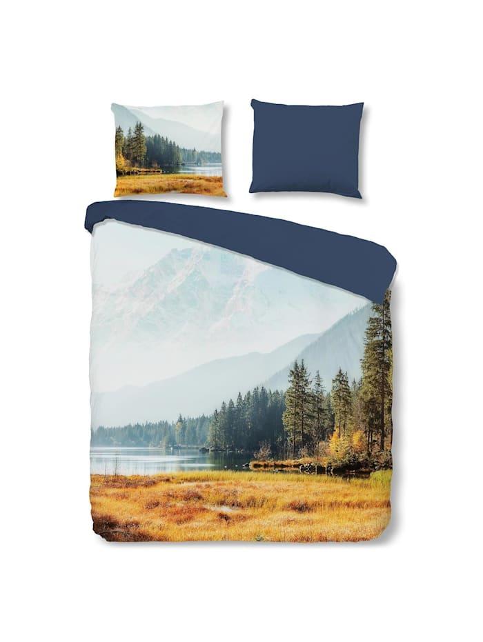 Traumschlaf Renforcé Bettwäsche Wald und Berge, bunt